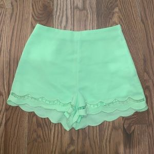 Lime green high waisted shorts size small